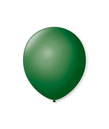 Balão liso nº5 Verde Folha com 50 unid.