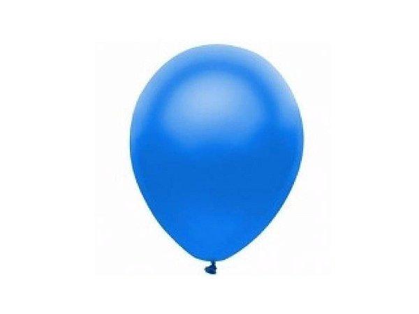 Balão liso nº5 Azul Turquesa com 50 unid.
