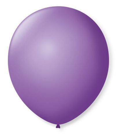 Balão liso nº5 Roxo Ametista com 50 unid.