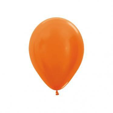Balão liso nº5 Laranja Mandarim com 50 unid.