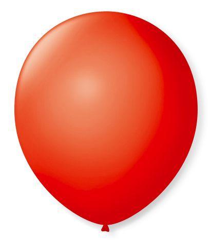 Balão liso nº5 Vermelho Quente com 50 unid.
