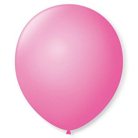 Balão liso nº5 Rosa Tutti Frutti com 50 unid.