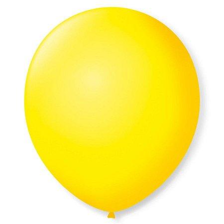 Balão liso nº5 Amarelo Citrino com 50 unid.