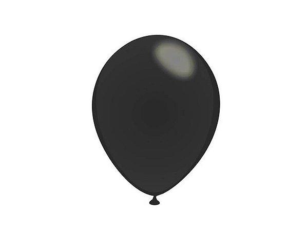 Balão liso nº5 Preto Ebano com 50 unid.
