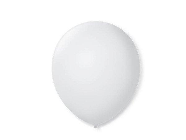Balão liso nº5 Branco Polar com 50 unid.