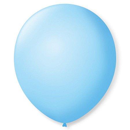 Balão liso nº5 Azul Baby com 50 unid.