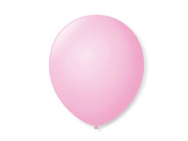 Balão liso nº5 Rosa Baby com 50 unid.