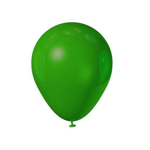 Balão liso nº5 Verde Maçã com 50 unid.
