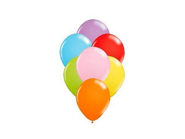 Balão liso nº5 Sortidos com 50 unid.