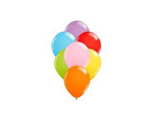 Balão liso nº7 Sortidos com 50 unid.