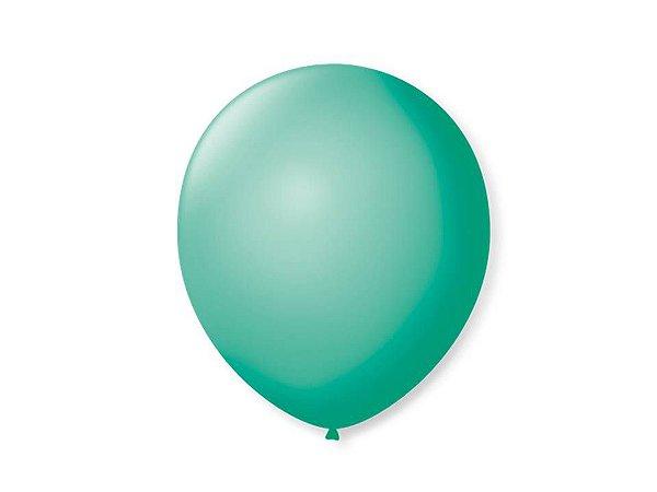 Balão liso nº7 Azul Tiffani com 50 unid.