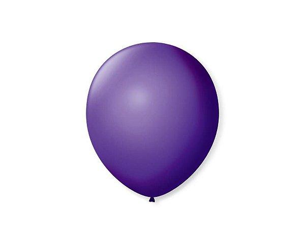 Balão liso Nº7 Roxo Uva com 50 unid.
