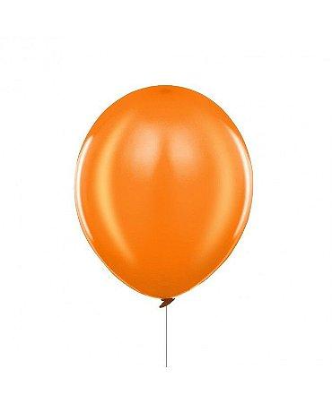 Balão liso nº7 Laranja Mandarim com 50 unid.