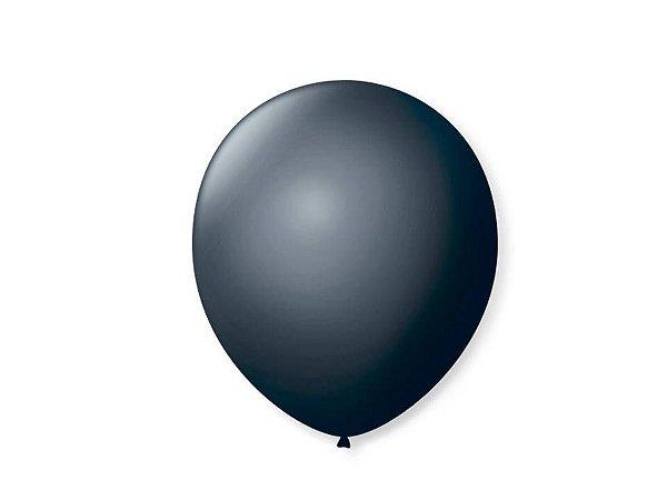 Balão liso nº7 Preto Ebano com 50 unid.