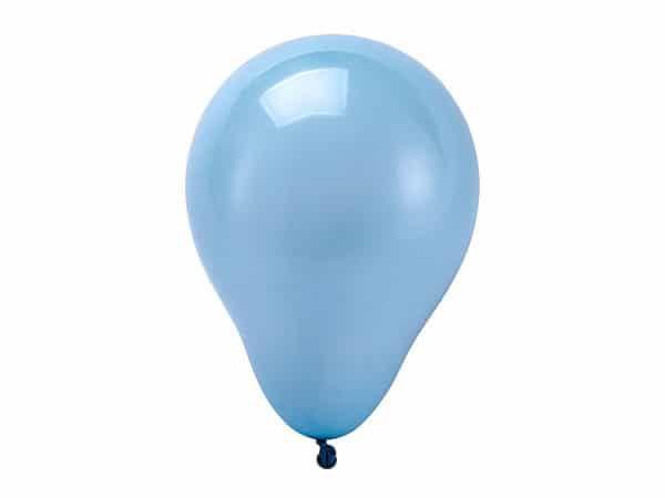 Balão liso nº7 Azul Baby com 50 unid.