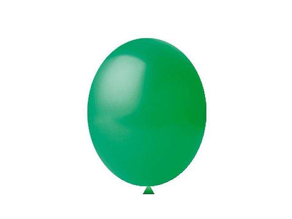 Balão liso nº7 Verde Bandeira com 50 unid.