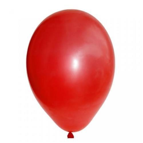 Balão liso nº7 Vermelho Quente com 50 unid.