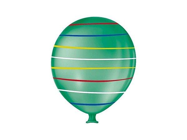Balão Gigante Arco Iris verde folha