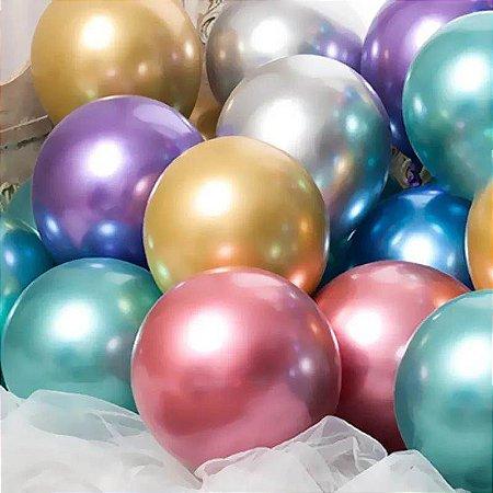 Balões Sortidos Metálicos nº9 com 25 unid.