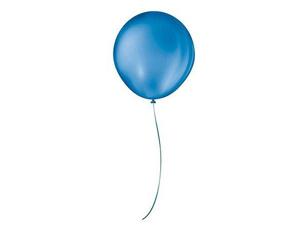 Balões 5 Redondo Liso Azul Cobalto 50 Unidades
