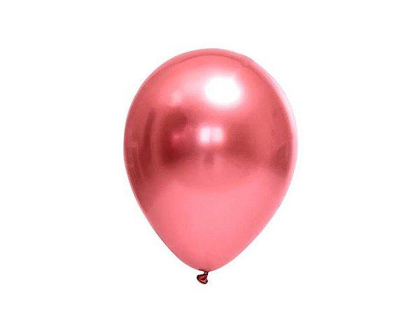 Balões Vermelho Metálicos nº5 com 25 unid.