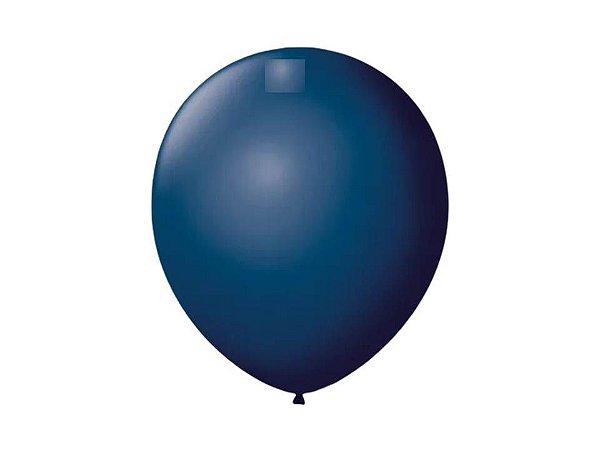 Balão Azul Petróleo Liso Nº7 com 50 unid.