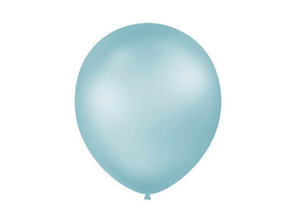 Balão Azul Claro Perolado Liso Nº7 com 50 unid.