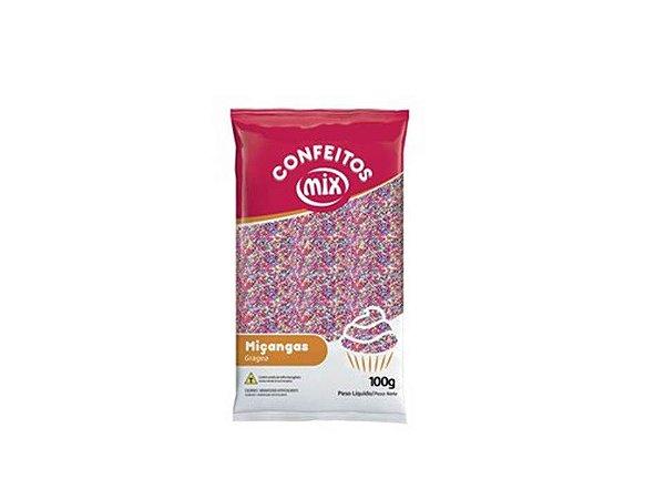 Confeito Miçanga 8 Cores 100g Mix