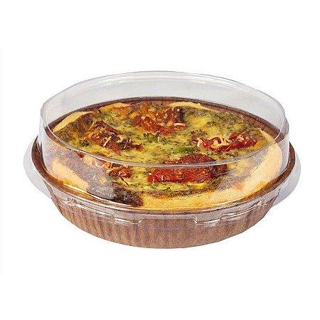 """Forma descartável forneavel para Torta """"M"""" 160x30 com 5 unidades"""