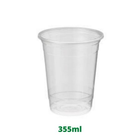 Copo descartável cristal 355ml com 12 unidades Darnel