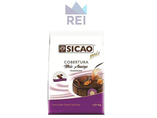 Cobertura Chocolate Meio Amargo em Gotas Sicao 1,01kg