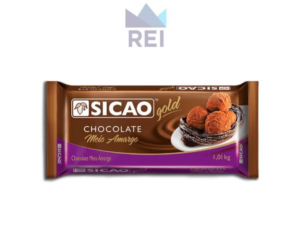 Chocolate Meio Amargo em Barra Sicao 1,01KG