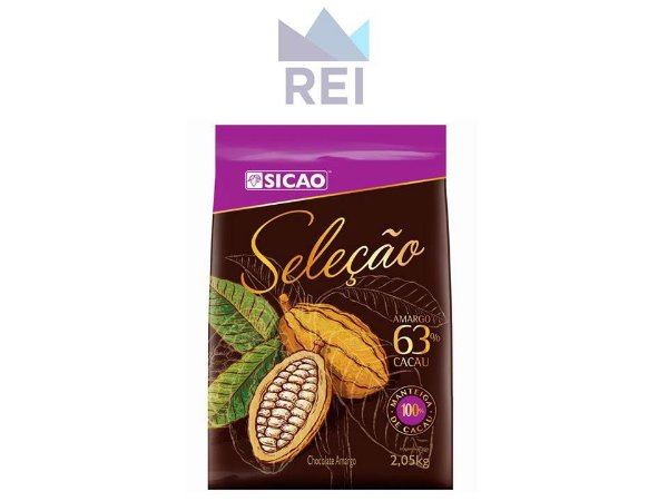 Chocolate Amargo em Gotas Seleção 63% Sicao 2,05kg