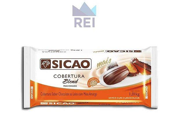 Cobertura Chocolate Fracionado Blend em Barra Sicao 1,01kg