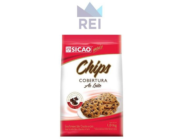 Cobertura Chocolate ao Leite Chips Sicao 1,01kg