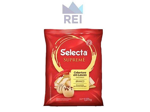 Cobertura Chocolate Fracionado Branco em Gotas Selecta 1,01kg