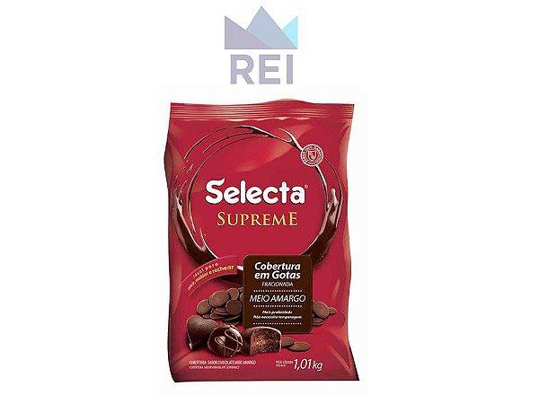 Cobertura Chocolate Meio Amargo em Gotas Selecta 1,01kg