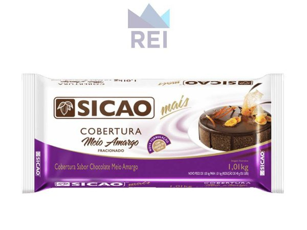Cobertura Chocolate Meio Amargo em Barras Sicao 1,01kg