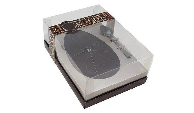 Caixa para Ovo de Páscoa c/ colher Classic Pérola 500g