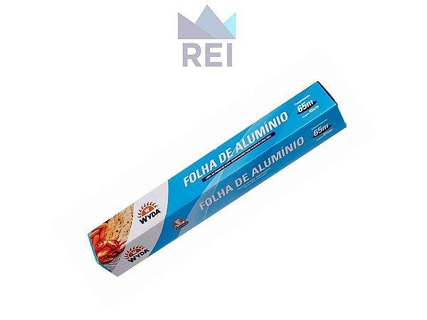 Papel Aluminio Largura 45cm Comprimento 65m Wyda