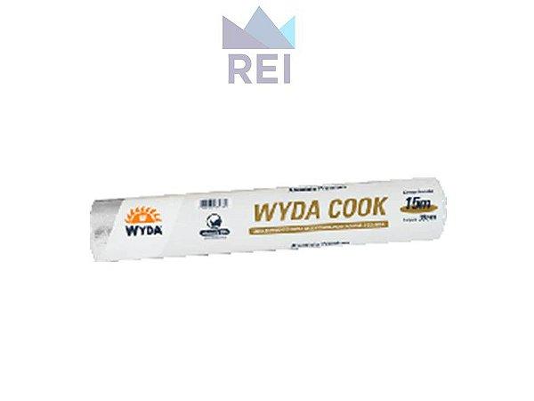 Papel Aluminio Wydacook largura 45cm comprimento 15m Wyda