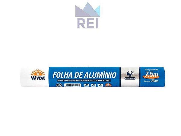 Papel Aluminio Wydacook Largura 30cm Comprimento 7,5m Wyda