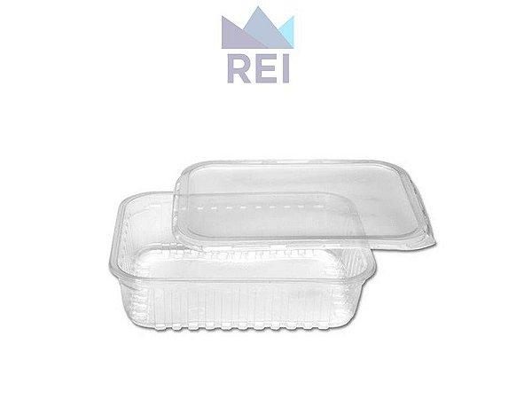 Pote Retangular em Plástico PP 750ml Prafesta