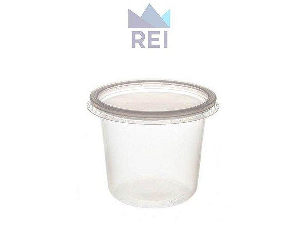 Kit Pote com tampa em Plástico 500ml pacote com 25 unidades Orleplast