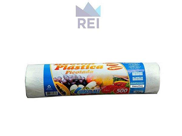 Saco Plástico em Bobina 30cmx40cm com 500 unidades