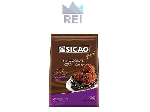 Chocolate Meio Amargo Gold em Gotas 2,05Kg Sicao