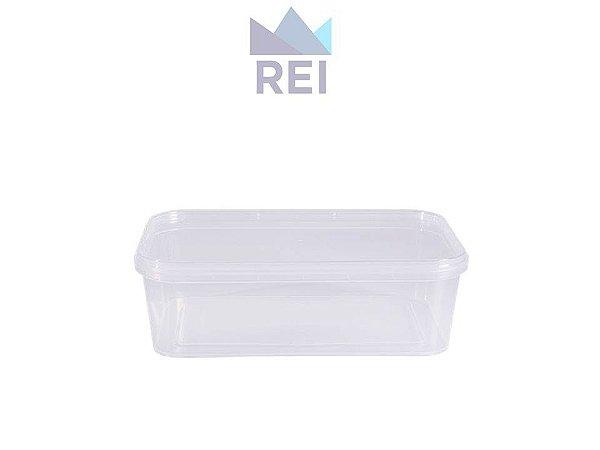Pote em Plástico Retangular com Lacre 500ml com 10 unidades Prafesta