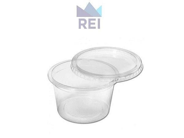 Kit Pote com Tampa em Plástico 350ml pacote com 25 unidades