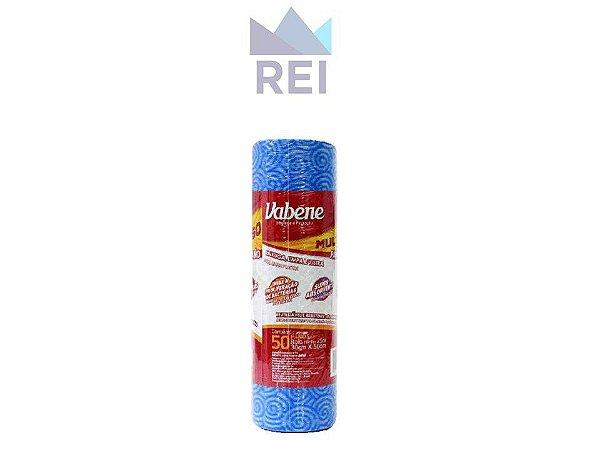 Pano Multiuso Azul em Rolo com 30cm 50 unidades Vabene