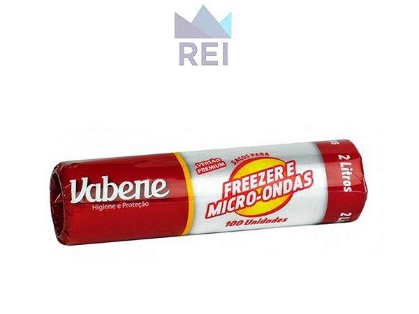 Saco Descartável para Freezer ou Microondas 2L com 100 unidades Vabene